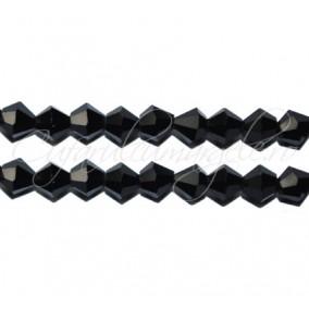 Cristale sirag biconice negru 4x3 mm