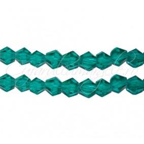 Cristale sirag biconice verde 4x3 mm
