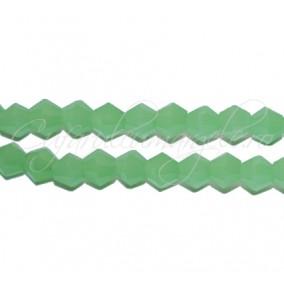 Cristale sirag biconice verde jad 4x3 mm