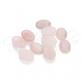 Cuart roz cabochon oval 14x10mm