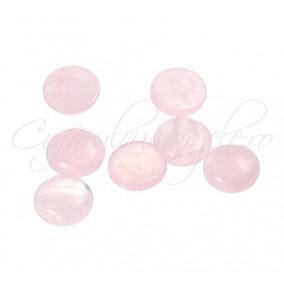Cuart roz cabochon rotund 10mm