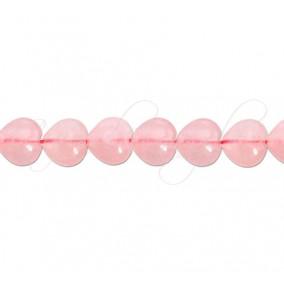 Cuart roz inima nefatetat 8x6 mm