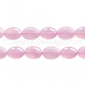 Cuart roz oval nefatetat 13x11x7 mm