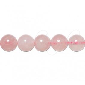 Cuart roz sferic nefatetat 10 mm