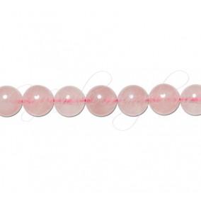 Cuart roz sferic nefatetat 8 mm