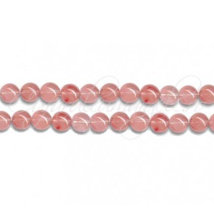 Cuart strawberry sferic nefatetat 4 mm