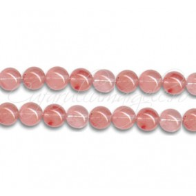 Cuart strawberry sferic nefatetat 6 mm
