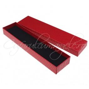 Cutie bratara carton rosu 21x4x2cm