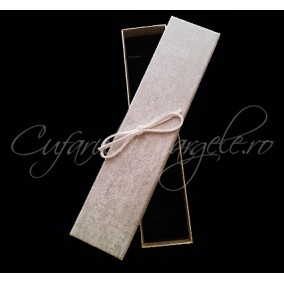 Cutie bratara carton tapet argintiu 20x4x3cm