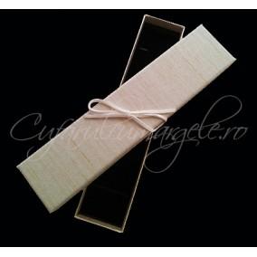 Cutie bratara carton tapet dungi fine argintii 20x4x3cm