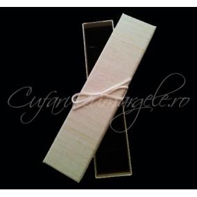 Cutie bratara carton tapet dungi fine maro 20x4x3cm