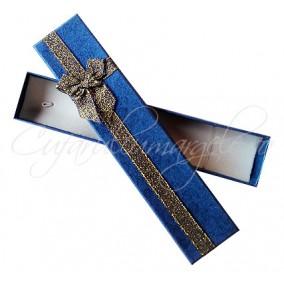 Cutie cadou bratara albastru trandafiri 21x4x2cm