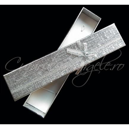 Cutie cadou bratara argintie 20x4x2cm
