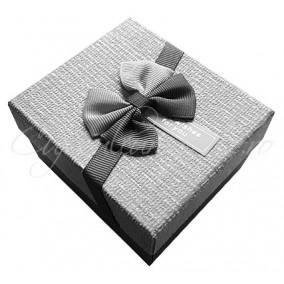 Cutie cadou ceas best wishes gri 8x9x5cm