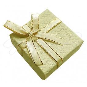 Cutie cadou inel ivoire funda fir auriu 5x5x3cm