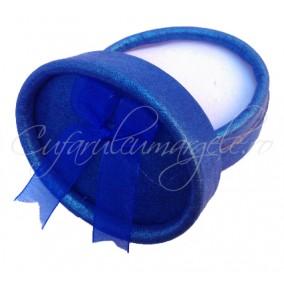 Cutie cadou inel ovala albastra 6x4x3cm