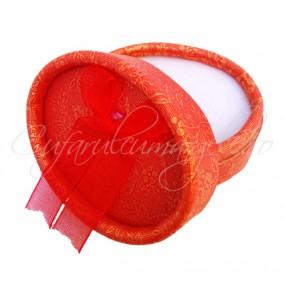 Cutie cadou inel ovala rosie 6x4x3cm