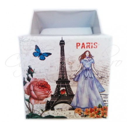 Cutie cadou inel Paris 5x5x3cm