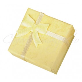 Cutie cadou inele patrata galben 4x4x3cm