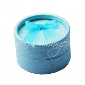 Cutie cadou inele rotunda bleu 5x3cm