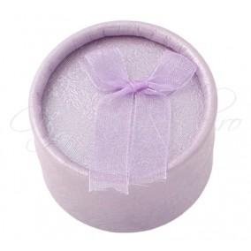 Cutie cadou inele rotunda lavanda 5x3cm