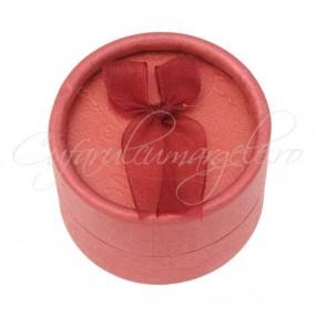 Cutie cadou inele rotunda rosie 5x3cm