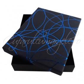 Cutie cadou set bijuterii albastra 16x12x3cm