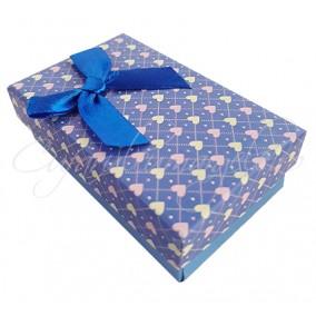 Cutie cadou set bijuterii albastru 8x5x3cm