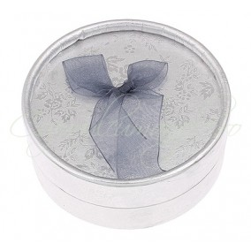 Cutie cadou set bijuterii argintie 8x3cm