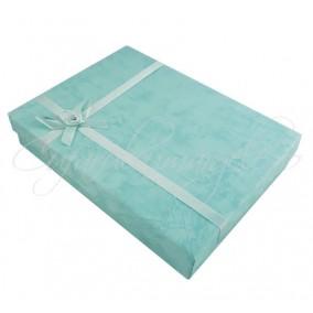Cutie cadou set bijuterii bleu 16x12x3cm