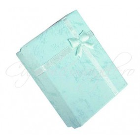 Cutie cadou set bijuterii bleu 9x7x3cm