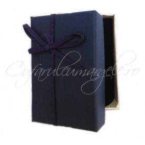 Cutie cadou set bijuterii panza navy 8x5x2cm