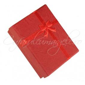 Cutie cadou set bijuterii rosie 9x7x3cm
