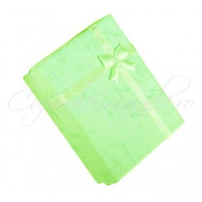 Cutie cadou set bijuterii verde crud 9x7x3cm
