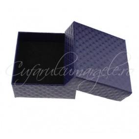 Cutie inel carton lucios navy 5x5x4cm
