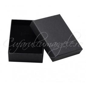 Cutie set bijuterii carton negru burete negru 8x5x2cm