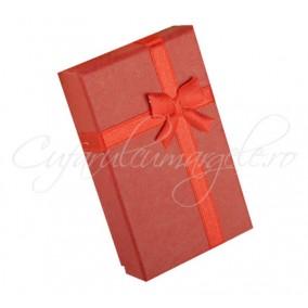 Cutie set bijuterii carton rosu 8x5x3cm