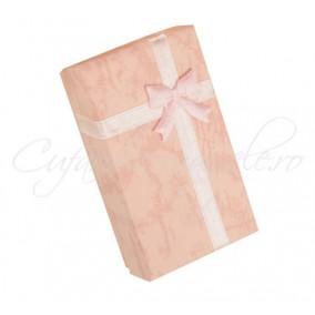 Cutie set bijuterii carton roz 8x5x3cm