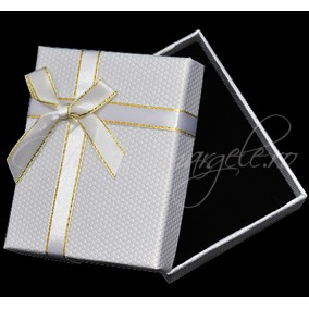 Cutie set bijuterii fagure alb 9x7x3cm