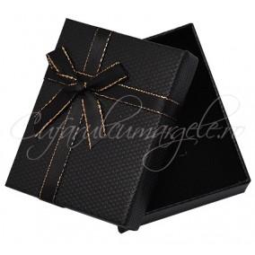 Cutie set bijuterii fagure negru 9x7x3cm