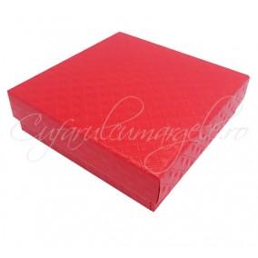 Cutie set carton lucios rosu 9x9x2cm
