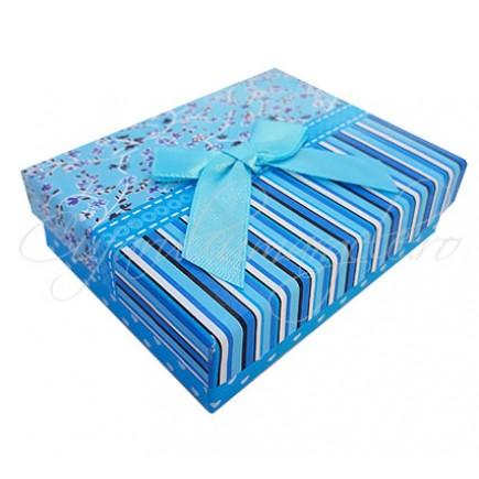 Cutie set dungi flori bleu 9x7x3cm