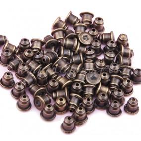 Dopuri cercei bullet bronz 5mm