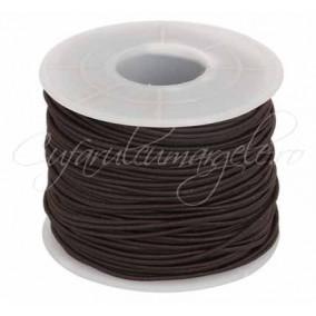 Elastic textil rotund 1.2mm maro 10m