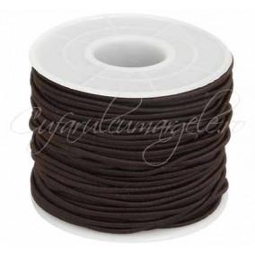 Elastic textil rotund 1.5mm maro 10m