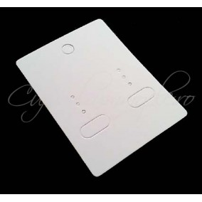 Etichete pret carton alb set cercei 6X5 cm 10 buc