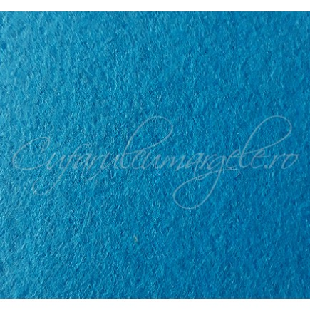 Foaie fetru grosime 1mm albastru cyan 293x205mm