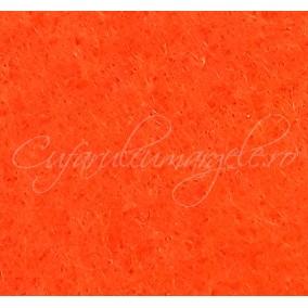 Foaie fetru grosime 1mm oranj 293x205mm