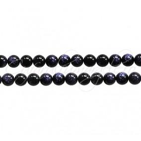 Goldstone albastru sferic lucios 4 mm