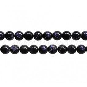 Goldstone albastru sferic lucios 6 mm